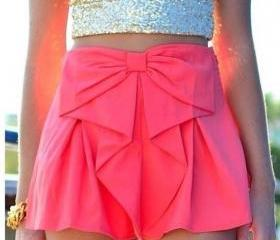 bow waist shorts cute MY0082FY