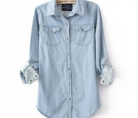 Fashion women's denim shirt BACEB